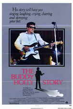 THE BUDDY HOLLY STORY Movie POSTER 27x40 Gary Busey Don Stroud Charles Martin