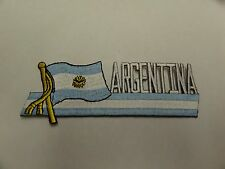 PATCH COUNTRY FLAG SEW ON JACKET SHORT OR PANTS ARGENTINA