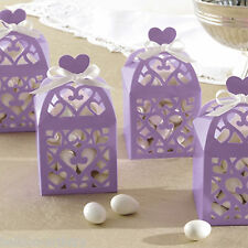 50 Elegant Lilac Lantern Wedding Engagement Party Gift Favour Boxes