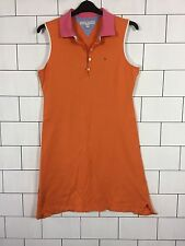 WOMENS URBAN VINTAGE RETRO ORANGE TOMMY HILFIGER SLEEVELESS POLO DRESS SIZE XL