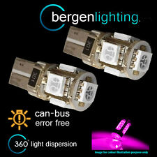 2X W5W T10 501 CANBUS ERROR FREE PINK 5 LED SIDELIGHT SIDE LIGHT BULBS SL101302