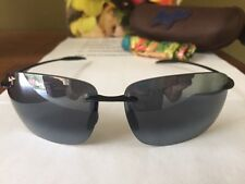 NEW Maui Jim Sunglasses BREAKWALL Polarized Gloss Black 422-02
