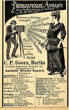 Anschütz Moment- Apparat C. P. Goerz Berlin Optische...Historische Annonce 1895