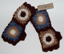 Studio S Ladies Texting Fingerless Multicolor Pattern Knit Gloves NWT