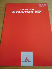 UNUSUAL MITSUBISHI EVOLUTION VIII BROCHURE jm