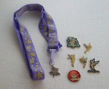 *~*DISNEY TINKER BELL LANYARD & MEDAL WITH 6 TINKER BELL PINS*~*