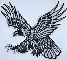 eagle bird hawk patch embroidered iron on motorcycle biker large back patch logo