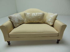 Dollhouse Miniatures Furniture 1/12: 3210-1lggmh Mahogany Upholstered Sofa