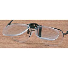3X JEWELERS HOBBIEST WORKSHOP CLIP ON FLIP UP MAGNIFIER EYEGLASS LENS