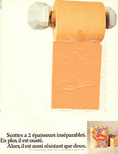 Publicité Advertising 1973  SCOTTEX papier toilette à 2 épaisseurs (échantillon)