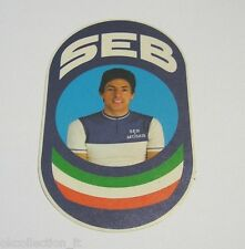 VECCHIO ADESIVO BICICLETTA / Old Sticker Bike SEB FRANCESCO MOSER (cm 7 x 12)