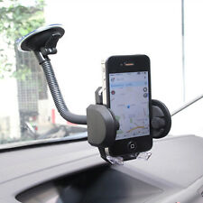 Flexible Gooseneck Mobile Phone Stand Lazy Car Holder Clamp for iPhone Black