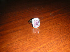 NWOT Jewels by Park Lane Statement Ring Pink & Clear CZ's size 9.75