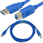 1.8m 6ft USB 3.0 A Male To B Male Plug Extension High speed premium Cable Cord