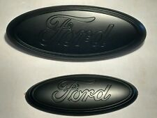 "2011-16 Ford Explorer 9"" front & 7"" rear  emblem set, black matte logo,PAINTED"