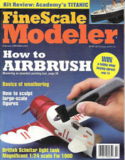 Fine Scale Modeler Feb.99 AFV Club Scimitar German Luftwaffe Fw 190D Airbrush