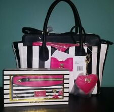 Betsey Johnson Satchel Bag With Removable Strap and Wallet Set NWT (3 Piece Set)