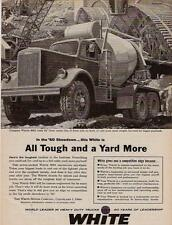 1960 GIANT CEMENT MIXER TRUCK BY WHITE MOTORS RARE AD