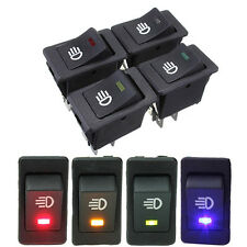 New 4x 12V 35A 4-PIN Car Auto LED Fog Light Rocker Switch Toggle Dashboard ON/OF