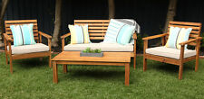 Whitsunday 4 piece timber lounge setting natural/taupe