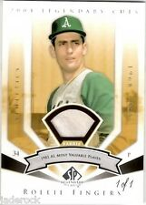 Rollie Fingers 2004 Upper Deck SP Legendary Cuts Game Used Fabric Jersey #1/1