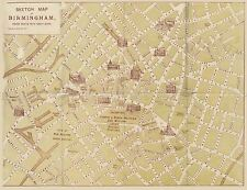 MAP REPRO ANTIQUE KIRK GUIDE BIRMINGHAM UK STREET PLAN LARGE ART PRINT LF898