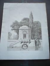 GRAVURE 1873 PAVILLON DE JARDIN MAYEUX ARCHITECTE