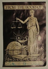 Bookplate by GVZ Zardi - ca 1920 --  Women's suffrage theme