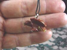 (an-eag-7) little EAGLE RED Jasper eagles carving Pendant NECKLACE FIGURINE gem