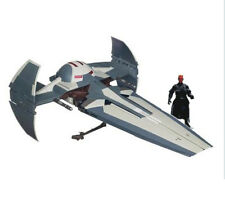 STAR WARS  SITH INFILTRATOR FIGHTER ship vehicle & Darth Maul figure NICE SET