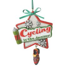 2016 Cycling Bicyclist Spinning Biker Christmas Ornament Holiday Gift 115143