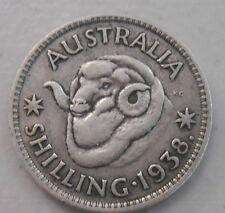 1938  Australian Silver 1/- One Shilling ( Shilling) KING GEORGE VI  (very Nice)
