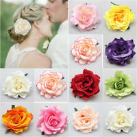 Bridal Rose Flower Hair Clip Hairpin Brooch Wedding Party Accessorie Bridesmaid
