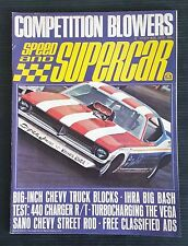 Speed & Supercar Magazine Aug 1972  440 Charger - 427 Camaro - 429 Boss Mustang