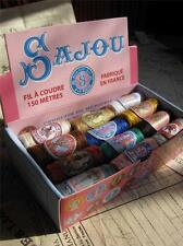 Sajou French Vintage Style Box of 24 Sewing Thread Cocoons- Vintage Colours