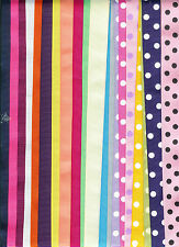 20 yards of 7/8 grosgrain ribbon 14 solids and 6 polka dots Great deal