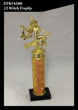 12 inch Witch Halloween Trophy - FREE ENGRAVING Costume Contest Party Scariest