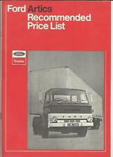FORD ARTICS PRICE LIST SALES BROCHURE AUGUST 1970