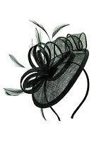 Ladies Women Sinamay Feather Wedding Occasion Headband Flower Fascinator hat