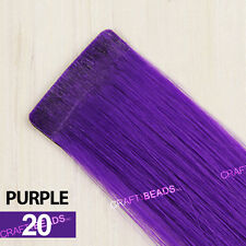 """24"""" Seamless Straight Synthetic Hair Extension Clip In On Party - Solid Color"""