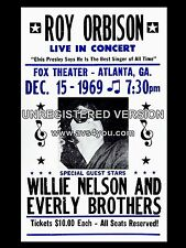 """Roy Orbison / Everly Brothers Atlanta 16"""" x 12"""" Photo Repro Concert Poster"""