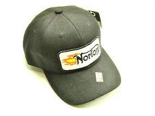 Norton Flame Hat baseball cap vintage british motorcycle patch black ballcap