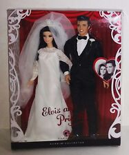 2008 Barbie Collector Edition Pink Label ELVIS and PRISCILLA WEDDING DAY Dolls