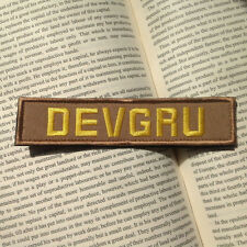 DEVGRU TACTICAL MILITARY MORALE SWAT EMBROIDERED BADGE BROWN VELCRO PATCHES