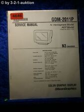 Sony Service Manual GDM 2011P Color Graphic Display (#4646)