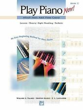 Play Piano Now!  Alfred's Basic Adult Piano Course Lesson - Theory - Sight readi
