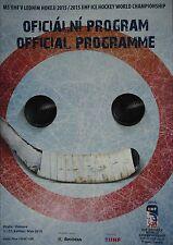Programm IIHF Eishockey WM 2015 Tschechien Prag / Ostrava