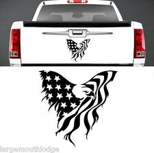 AMERICAN EAGLE FLAG TAILGATE GRAPHIC DECAL TRUCK CAR BOAT JEEP FORD CHEVY DODGE