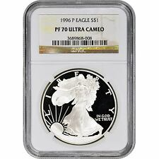 1996-P American Silver Eagle Proof - NGC PF70 UCAM