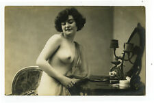 1920's French Nude SEXY FLAPPER Vanity Beauty photo postcard
